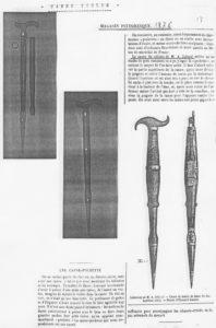 """Texte sur la canne violon extrait de la revue """" Magasin Pittoresque """" (1876) - Collection Achille JUBINAL"""