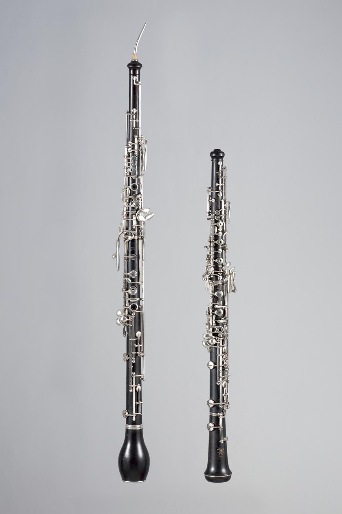 Coffret composé d'un cor anglais de TRIEBERT et d'un hautbois de MARIGAUX SML