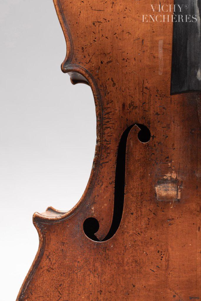 Intéressant violoncelle Français province fait vers 1815-1820