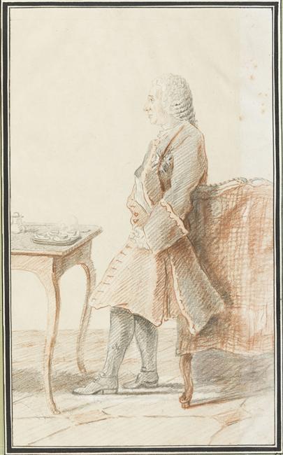 Carmontelle - dessin repésentant Charles Philippe d'Albert de Luynes