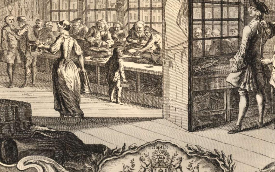 Eau-forte et gravure portant les armoiries de la Merchant Taylor's Company