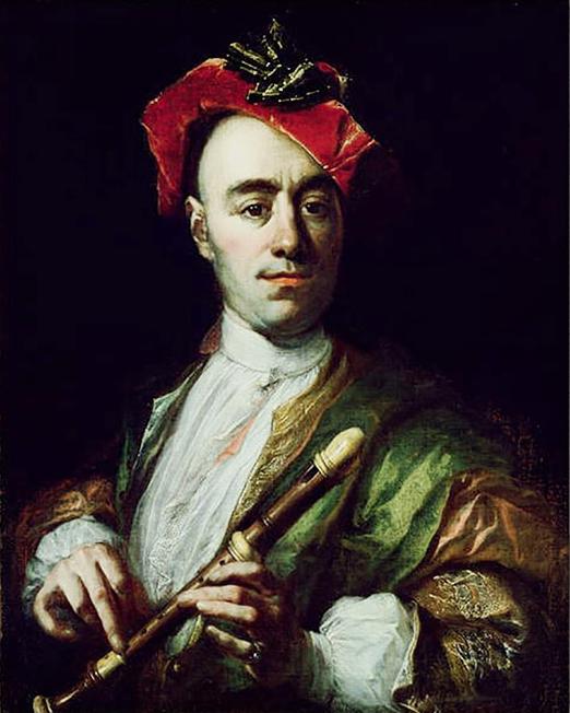 Johann Kupetzky (1667-1740) - Portrait of a Recorder Player