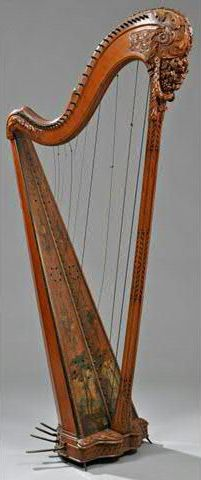 Harpe à simple mouvement par Henri NADERMANN, Paris, fin XVIIIème
