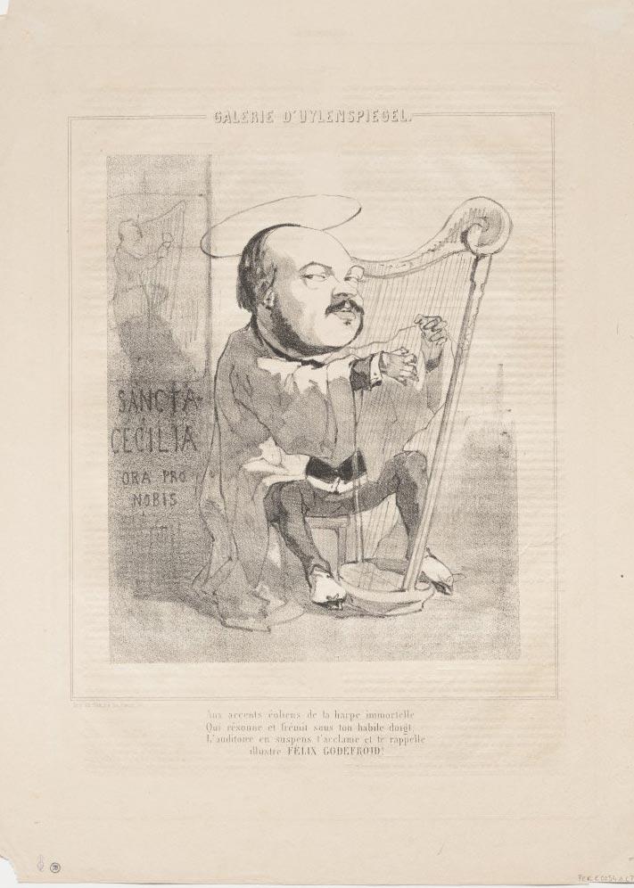 Portrait de Félix Godefroid par Félicien Rops