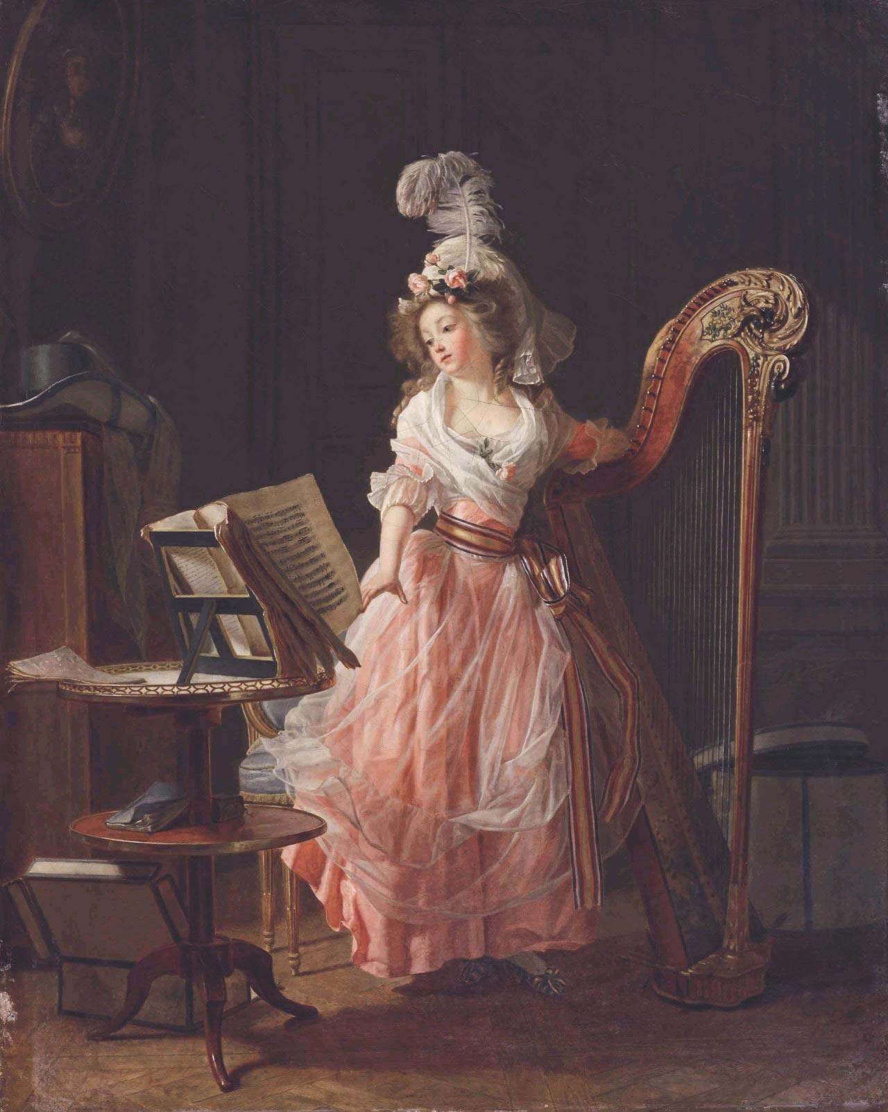 "Michel Garnier ""La jeune musicienne"", 1788"