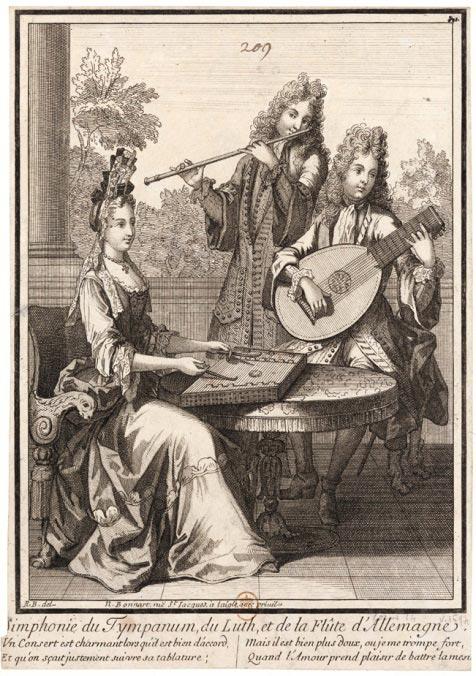 """""""Symphonie du tympanon, du luth et de la flûte d'Allemagne"""""""