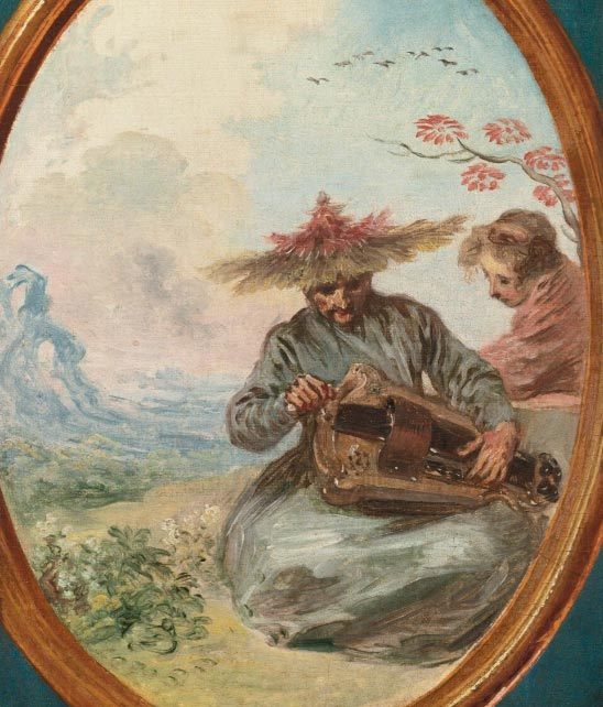 """Musicien chinois"" d'Antoine Watteau, vers 1710"
