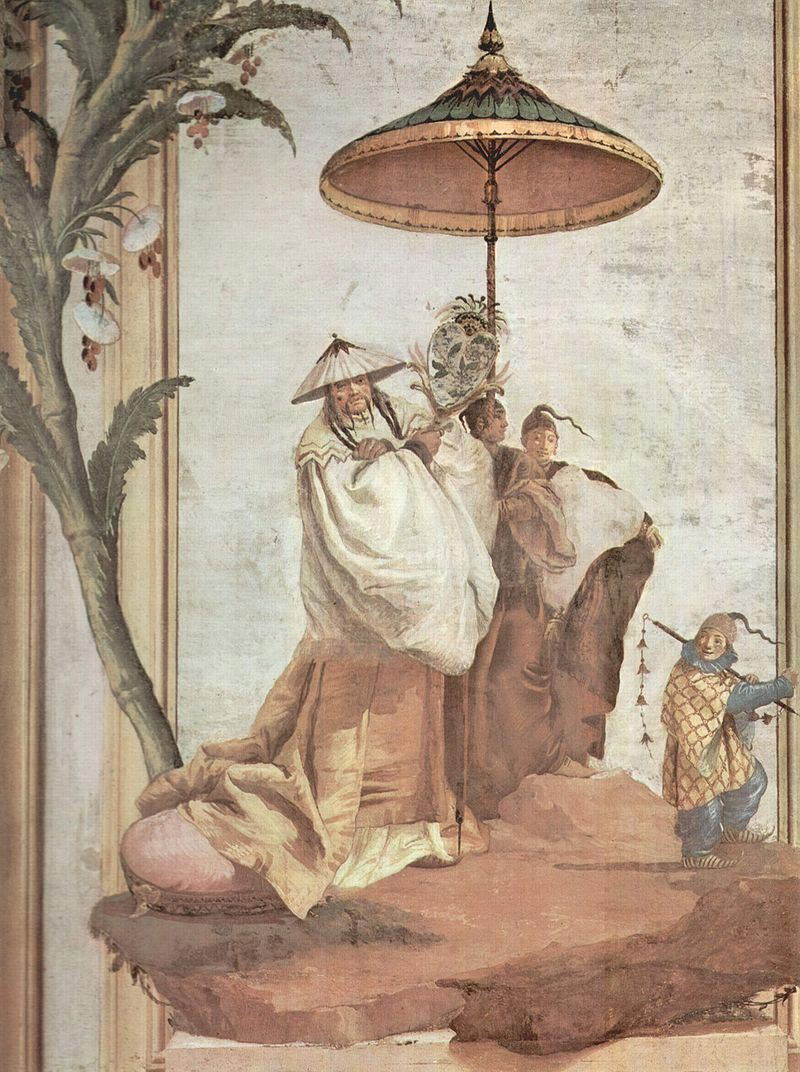 Fresque italienne de Giovanni Domenico Tiepolo, 1757