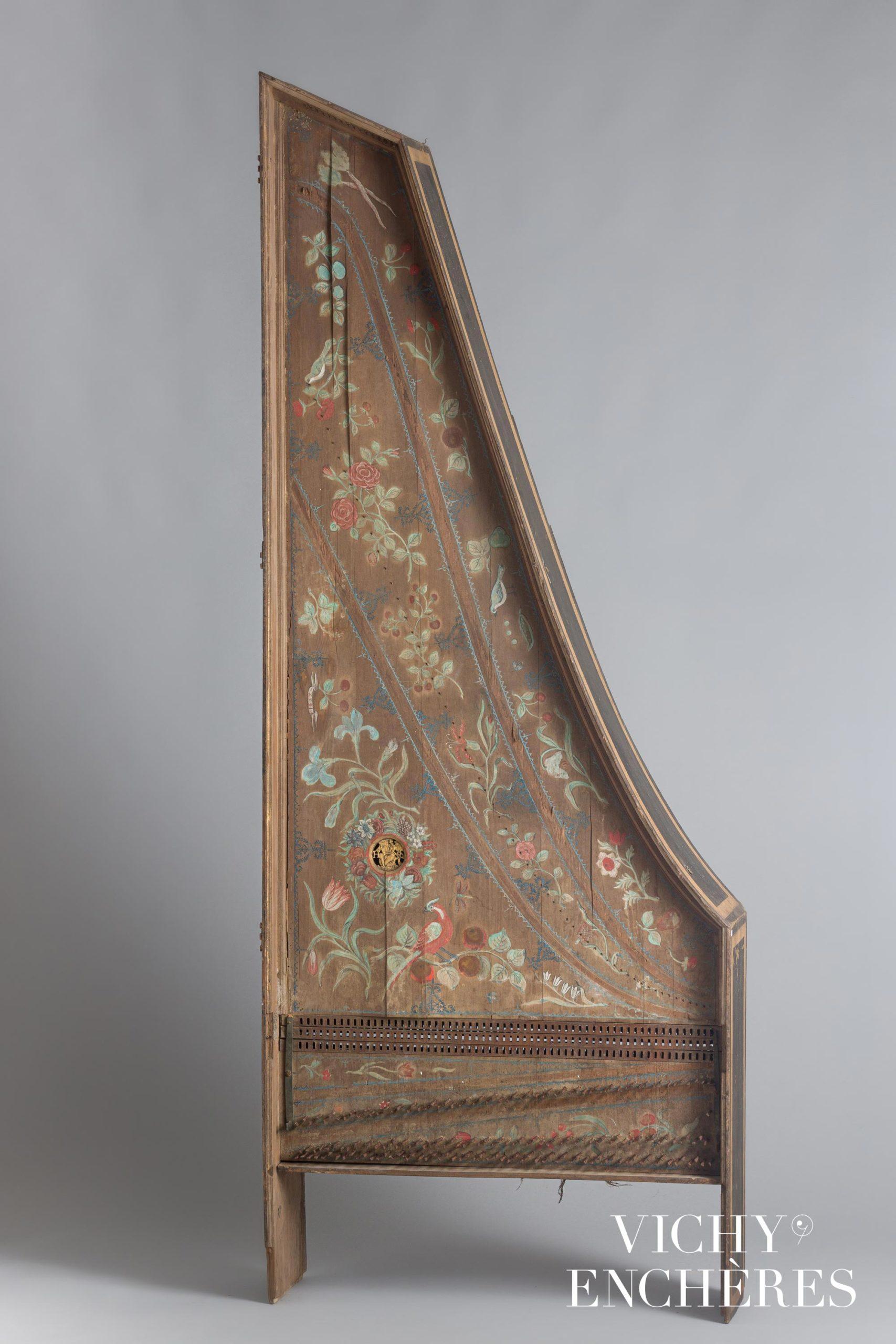 Caisse de clavecin avec sa table d'harmonie, France vers 1750