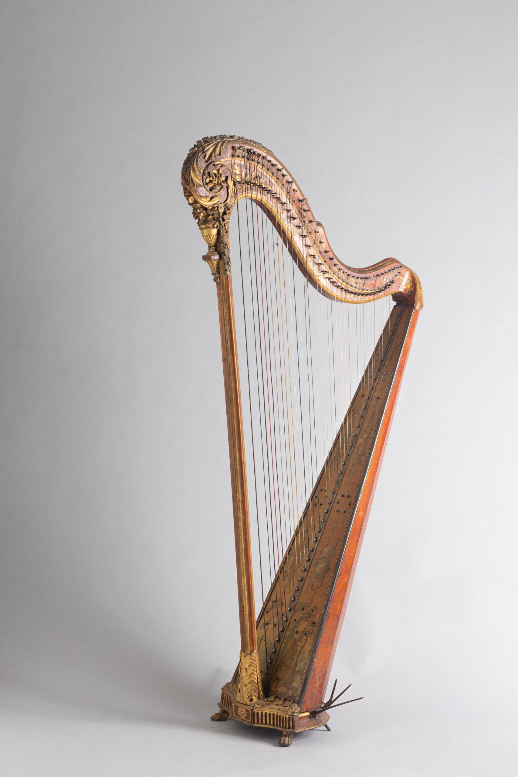 Harpe à crosse Holtzman à Paris, 1782